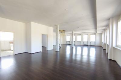 Open, bright living room